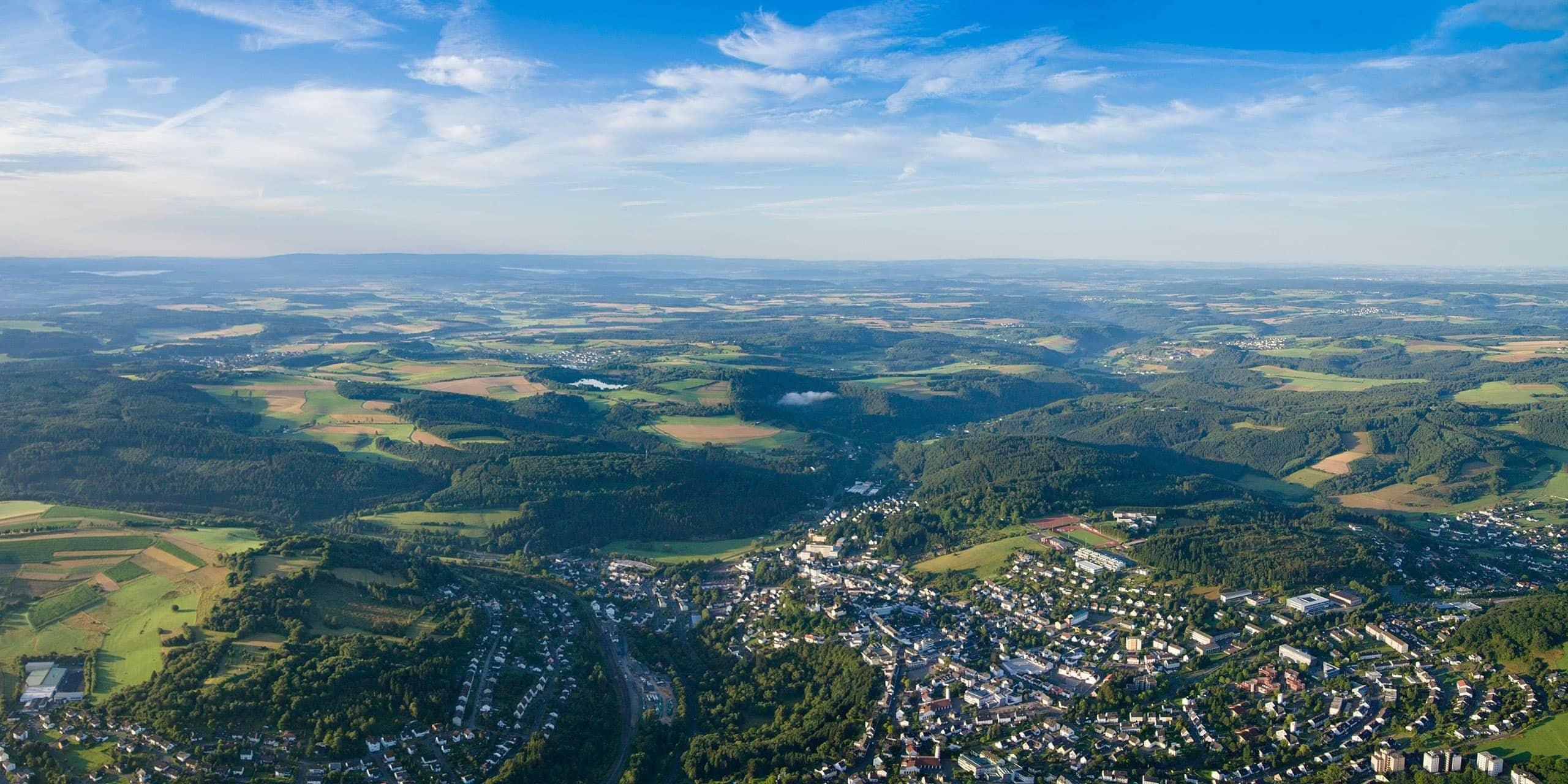 Luftaufnahme von Daun