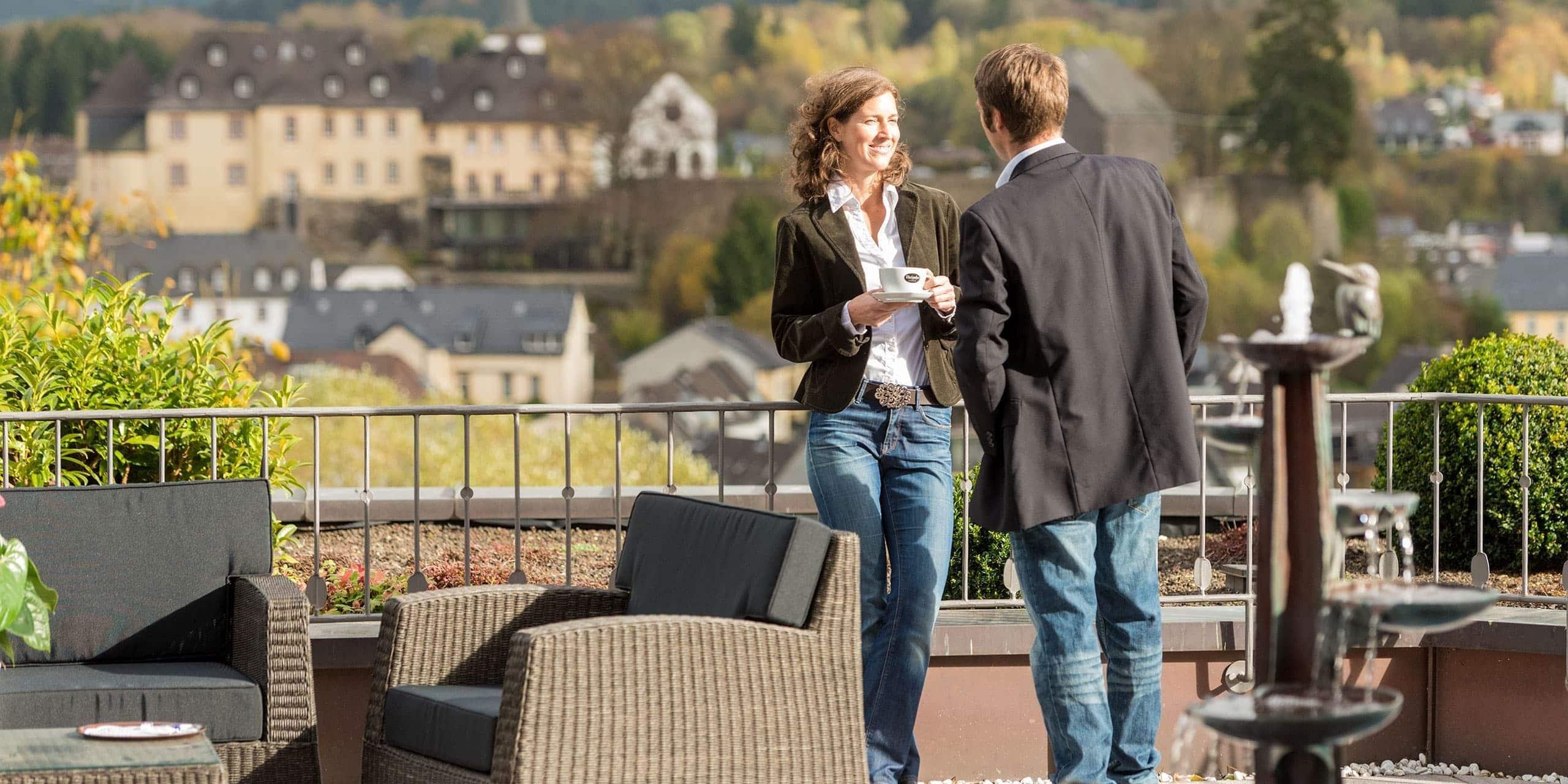Aussicht von der Hotel Terrasse